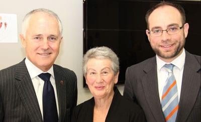 Malcolm Turnbull, Nina Bassat and Kevin Ekendahl