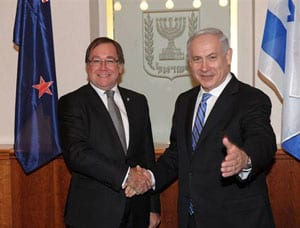 Murray McCully meets Israeli PM Benjamin Netanyahu on 1912