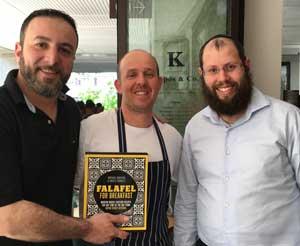 Michael Rantissi, Arthur Bilber and Rabbi Aaron Groner