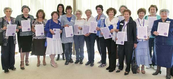 Volunteers get their awards