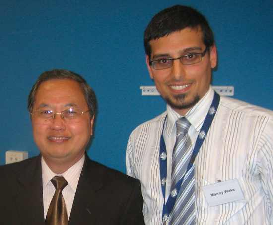 Ambassador Primo Alui Joelianto and CJF founder Manny Waks