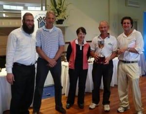 Rabbi Mendel Kastel, Tony Green, Bev Golovsky, Kenneth Broit and Nick Diamond