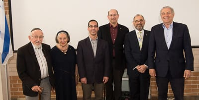 Presidents past and present, Dr Joachim Schneeweiss,Dianne Shteinman, Anton Block, Jeremy Jones and Robert Goot