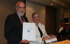 Professor Tim McCormack and Nina Bassat