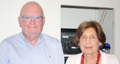 Dr Richard Halpin and Rina Huber