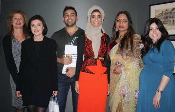 Panellists Rachel Kohn, Lea Lo Mascolo, Tarik Houchar, Widyan Al-Ubudy, Reena Koak, Devorah Niasoff