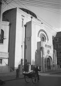 Beth Aharon Synagogue in Shanghai, built in 1927 by Sir Elias Hardoon. The synagogue was torn town in 1986 and replaced by a high-rise building. Credit: Courtesy Liliane Willens.