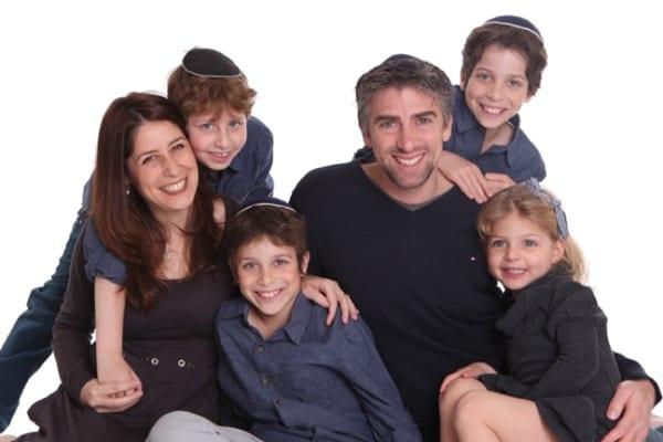 Tamara Samuel with her children and husband Jonathan