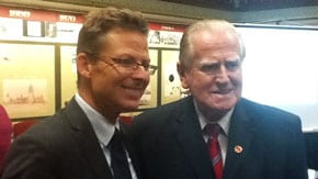 Andrew Tucker and the Rev Fred Nile