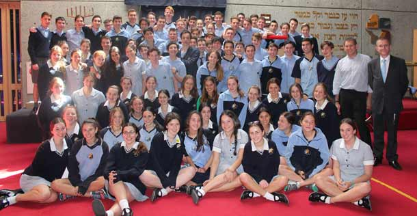 Students prior to departure