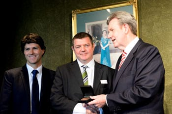 Minister Victor Dominello, Andrew Penfold and Premier Barry O'Farrell All Pix: Henry Benjamin