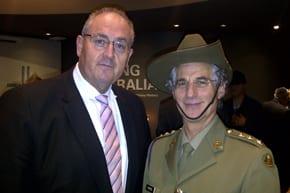 Walt Secord and Chaplain Rabbi Jeffrey Kamins