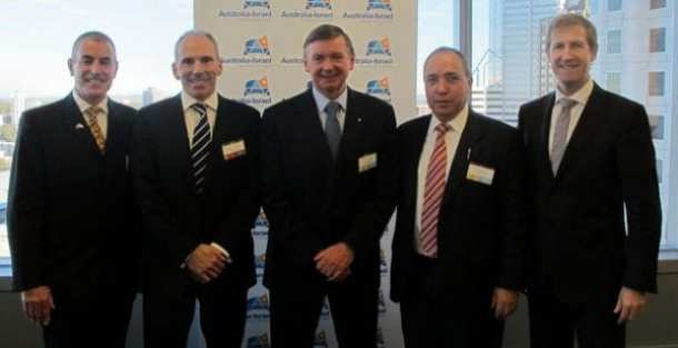 Yuval Rotem 2nd rt with His Excellency Malcolm McCusker AC CVO QC, Governor of Western Australia, Ashurt and AICC officials.