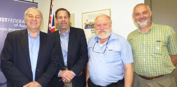 : Dr Danny Lamm, Prof  Len Saxe, Prof  David Mittleberg and Sam Tatarka.