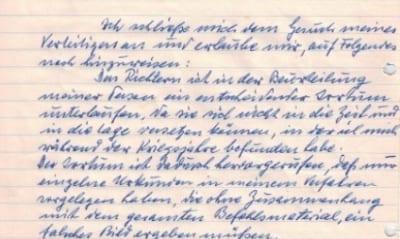 Eichmann's handwritten appeal for clemency