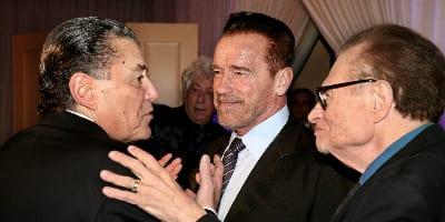 Haim Saban; Arnold Schwarzenegger; and Larry King        (Photo: Noam Chen).