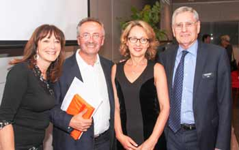 Aviva Wolff, Andrew Denton, curator Rosalyn Sugerman and CEO Norman Seligman