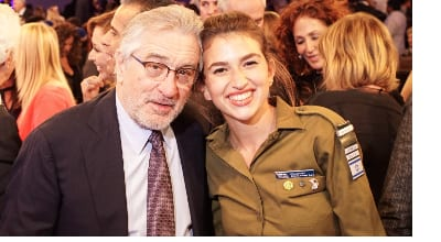Robert DeNiro with IDF Cpl. Idan Lee Kurz (Photo: Justin Kenderes).