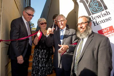 Roger Clifford, Nora Goodridge, Malcolm Turnbull and Rabbi Mendel Kastel