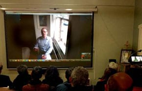 Professor Johnson on Skype