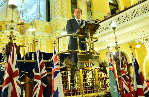 Prime Minister Tony Abbott delivers his address     Photo: Henry Benjamin/J-Wire