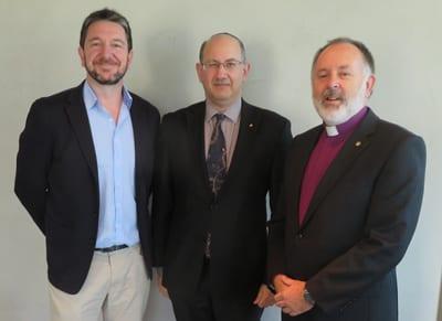 Rev Andrew Johnson, Jeremy Jones, Rev Ian Lambert