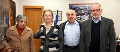 Leah Marcu, Miriam Sandler, Natan Sharansky and Samuel Sandler - Photo: Sasson Tiram, the Jewish Agency for Israel)