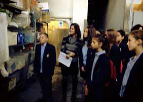 Mt Scopus children tour the Peter Unger factory   Photo: Facebook