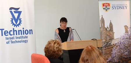 Technion Society of Australia president Dr Ruth Ratner