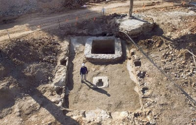 The winery. Aerial view: Guy Fitoussi, Israel Antiquities Authority.