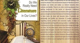 Do we really need literature in our lives?