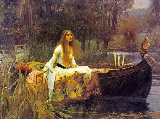 John William Waterhouse: The Lady of Shalott [on boat] - 1888