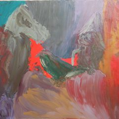 Fight in an abstract painting