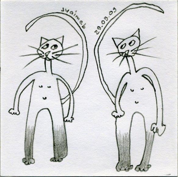 deux chats 2009-09-29