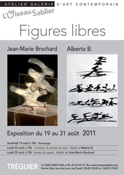"""Affiche exposition """"Figures-Libres"""""""