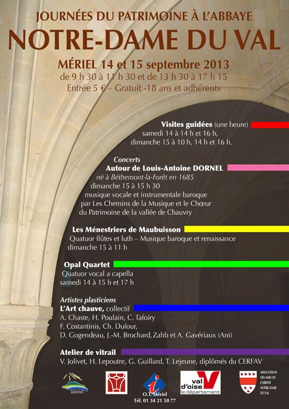 affiche journées du patrimoine Abbaye du Val