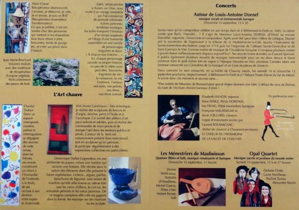programme détail Abbaye du val