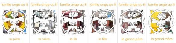 famille ange au lit à Marseille