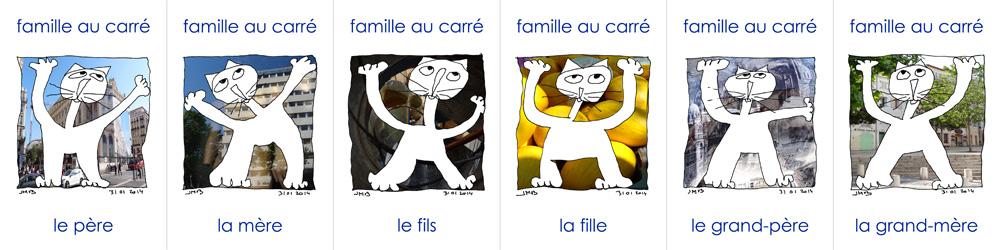 Nouvelle version de mon jeu des 7 familles (de chats à poils) en tous genres. Ils sont à Marseille.