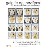 Exposition CHAT C'EST CROISÉ à la Galerie de Mézières à EAUBONNE du 1er au 6 novembre 2016