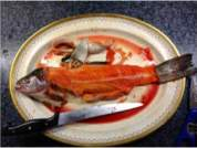 Quick Smoke filleted trout