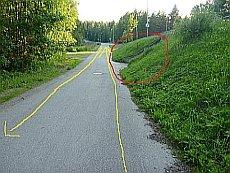Montussa sijaitseva tunneli Jyväskylän Keltinmäentiellä.