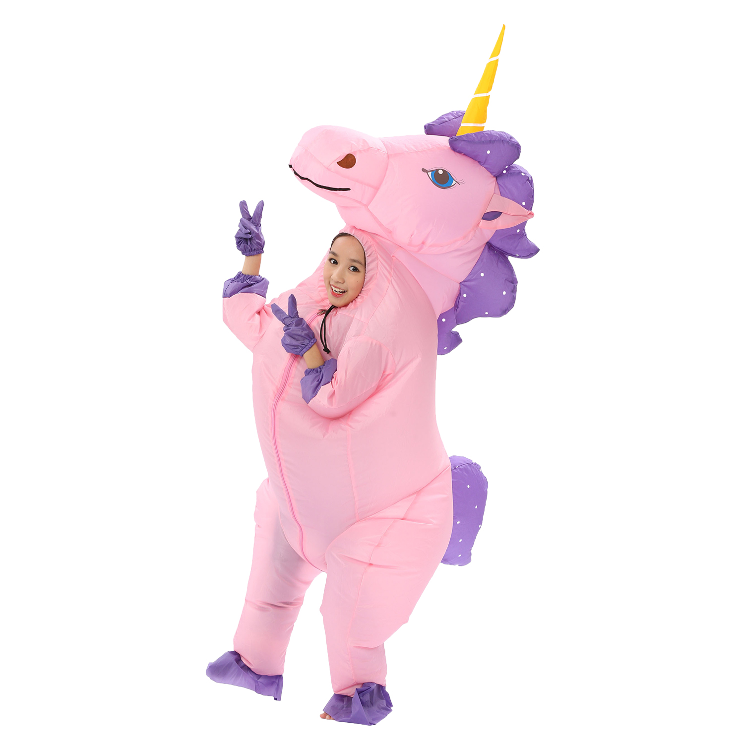 609e4be2b0eb New Adult Kids Inflatable Unicorn Costume Pony Halloween Costumes for Women  Men Cosplay Fantasia Party Inflatable Suit Jumpsuit