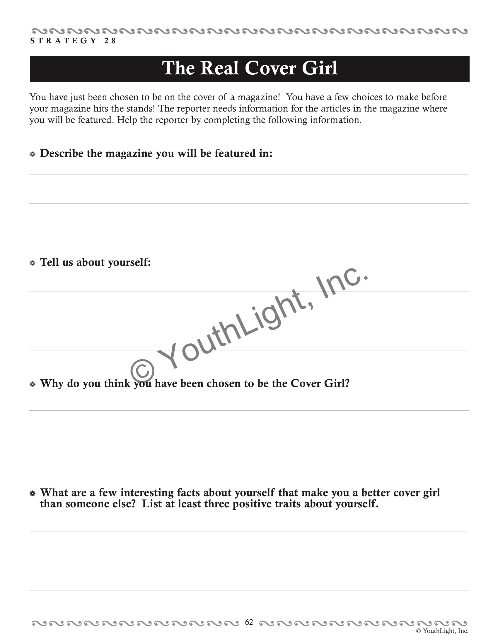 Relational Aggression Worksheet