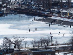 諏訪湖スケート