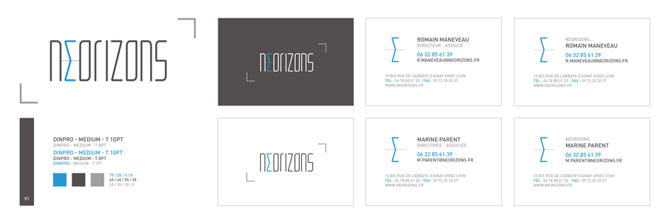 Planche Carte De Visites Neorizons