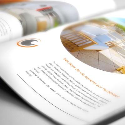 Réalisation graphique de la brochure Dolcea pour Sporting Promotion