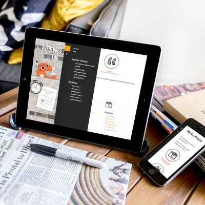 """Webdesign et intégration du site internet """"Les Aventures de Lou"""" (type blog privé)"""