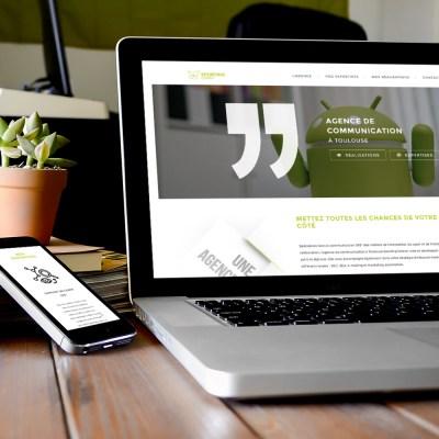 "Webdesign et intégration du site internet ""Sporting Comm"" (agence de communication)"