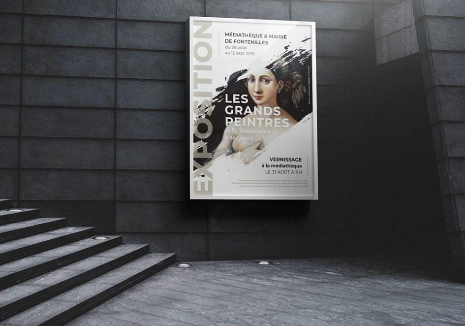 Affiche expo Les grands peintres